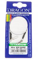 Поводок DRAGON Titanium Wire BIG GAME 18кг/25см.